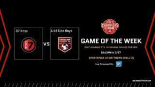 The @championsleaguenc Game of the Week returns this Saturday with another 👌 MATCHUP:   @one7socceracademy 07 Boys vs. @carolinavelocityfc U14 Boys Elite!   Tune in Saturday at 12:15pm using the Game of the Week link in our bio!