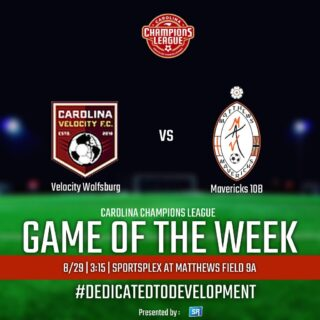 The @championsleaguenc Game of the Week returns this Sunday with another 👌 MATCHUP:   @carolinavelocityfc 10 Boys vs. @matthewsmavericks 10 Boys!   Tune in at 3:15 using the Game of the Week link in our bio live streamed by @sportsreelz_soccer