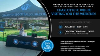Week 1 of the season will start off with @charlottefc stopping by for a visit!   Come check out their tent for more information on fields 5-9 this Saturday!